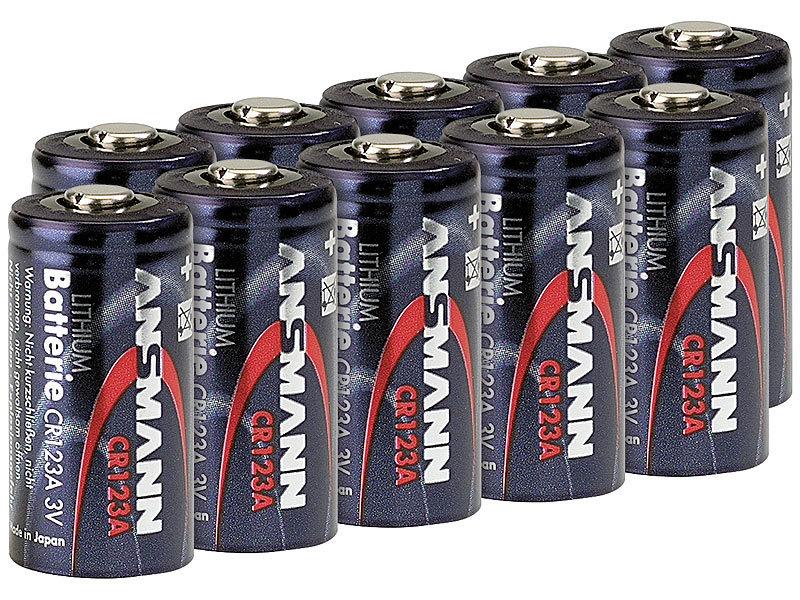 ansmann lithium batterien fotos foto lithium batterie cr123a 3 v 10er set lithium. Black Bedroom Furniture Sets. Home Design Ideas