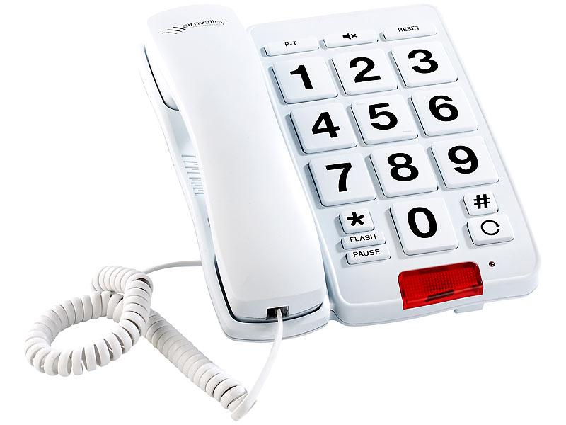 simvalley munications Großtasten Telefon XLF 20 weiß