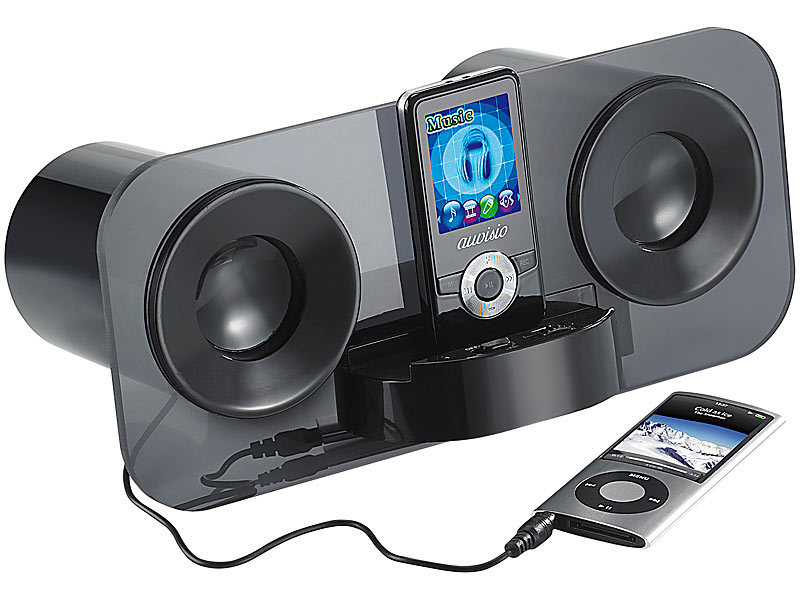 auvisio sound docks smartphones stereo lautsprecher mss. Black Bedroom Furniture Sets. Home Design Ideas
