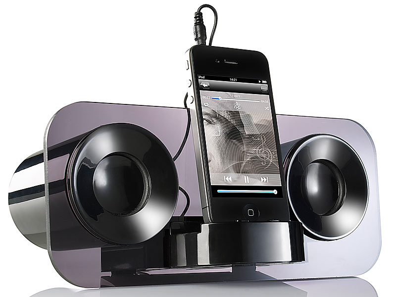 Sehr auvisio Sound Docks Smartphones: Stereo Lautsprecher MSS-222 für PX47