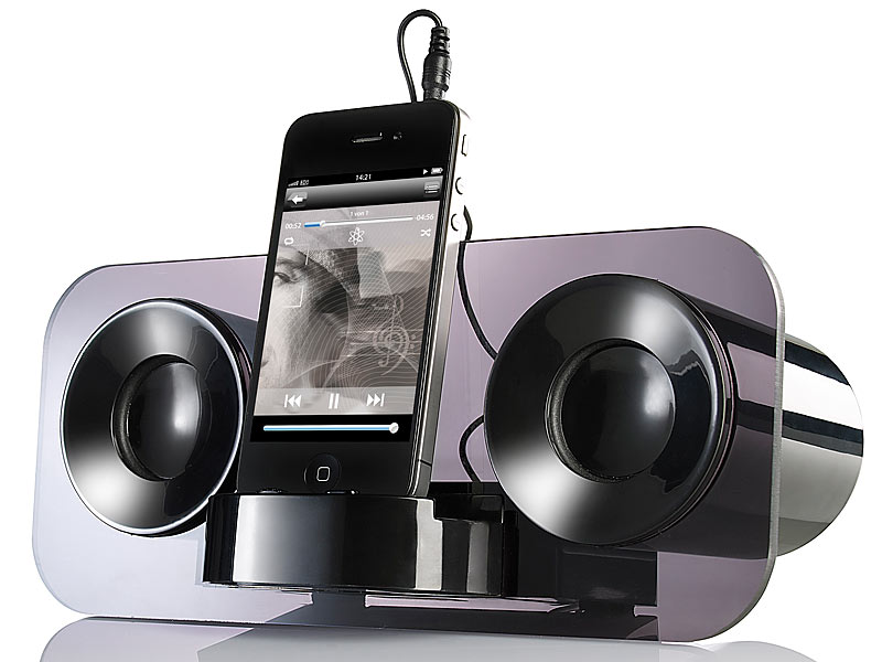 auvisio Soundstarke Lautsprecher: Stereo Lautsprecher MSS-7 für