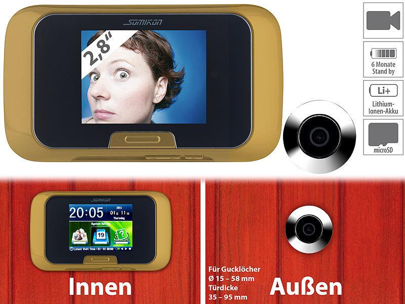 somikon t rkamera digitale t rspion kamera mit manueller foto und videoaufnahme t rspion. Black Bedroom Furniture Sets. Home Design Ideas