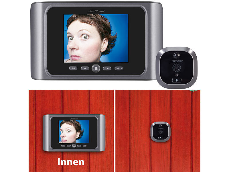 somikon digitale t rspion kamera mit bewegungserkennung. Black Bedroom Furniture Sets. Home Design Ideas