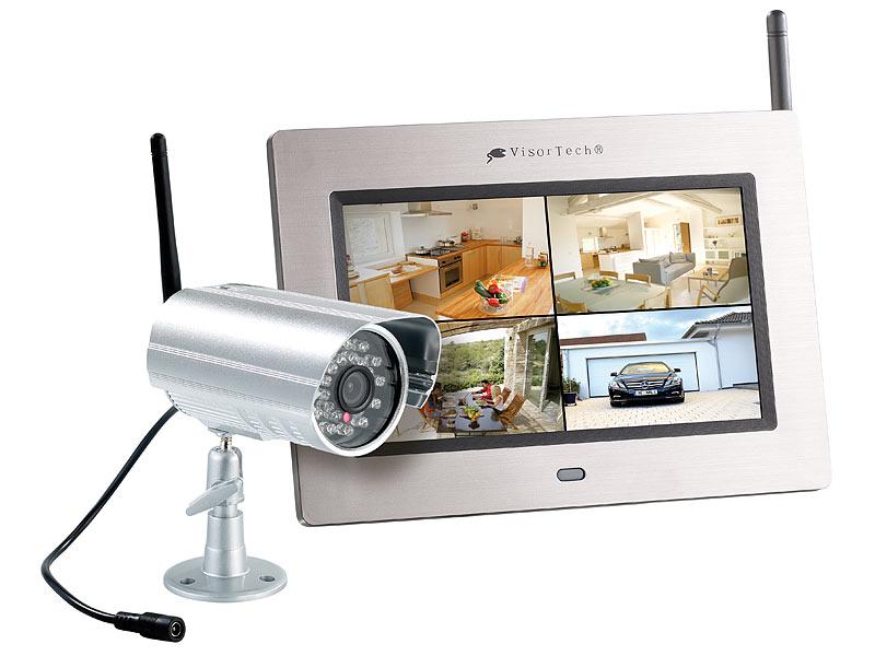visortech video berwachung kabelloses berwachungssystem mit ir funk kamera. Black Bedroom Furniture Sets. Home Design Ideas