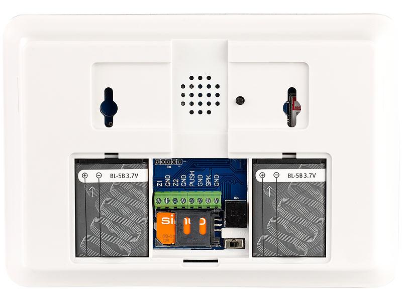 visortech alarmanlagen mit sirenen gsm alarmanlage mit funk handynetz anbindung xmd. Black Bedroom Furniture Sets. Home Design Ideas