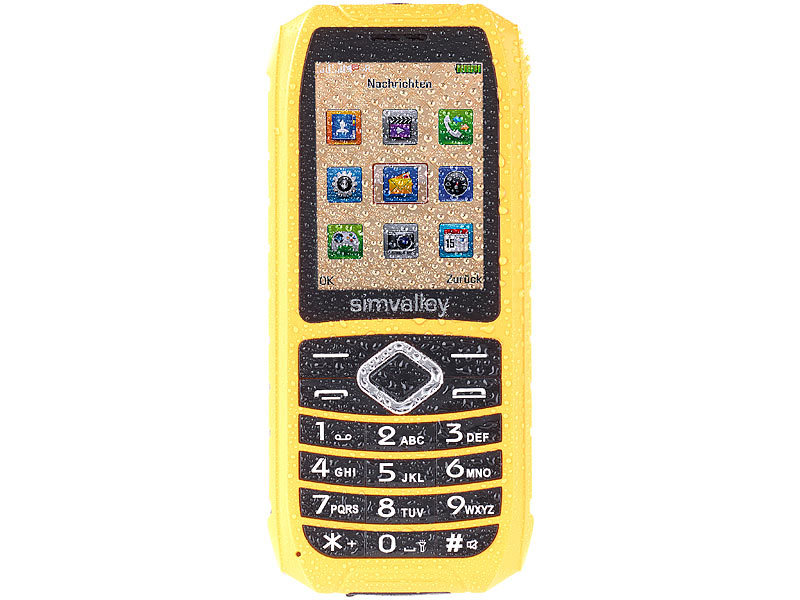 Outdoor-Handy XT-680, wasserdicht IP67, Dual-SIM