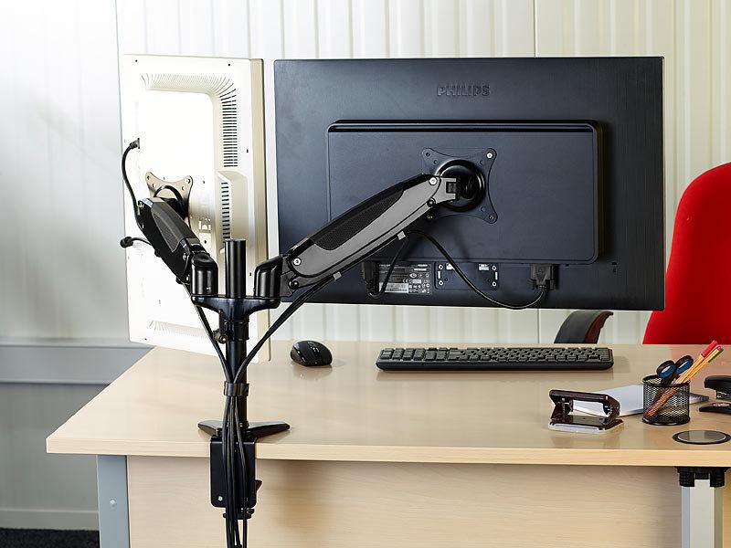 general office gasgefederter doppel monitor schwenkarm gsa bis 69 cm 27. Black Bedroom Furniture Sets. Home Design Ideas