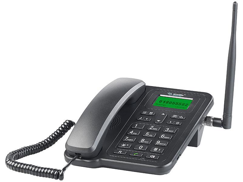simvalley gsm tischtelefon gsm tisch telefon mit sms. Black Bedroom Furniture Sets. Home Design Ideas
