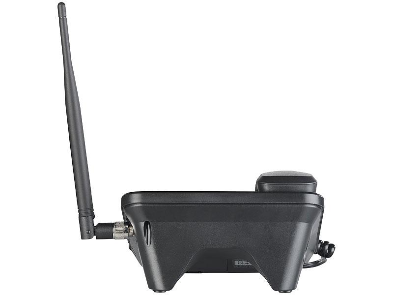 simvalley tischtelefon gsm tisch telefon mit sms funktion. Black Bedroom Furniture Sets. Home Design Ideas