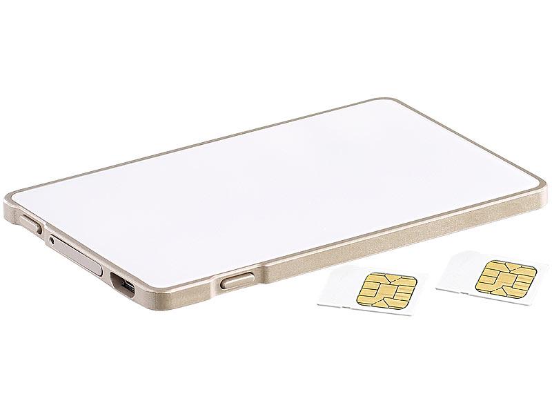 Callstel Adapter Micro SIM: Dual-SIM-Adapter mit Bluetooth, für ...