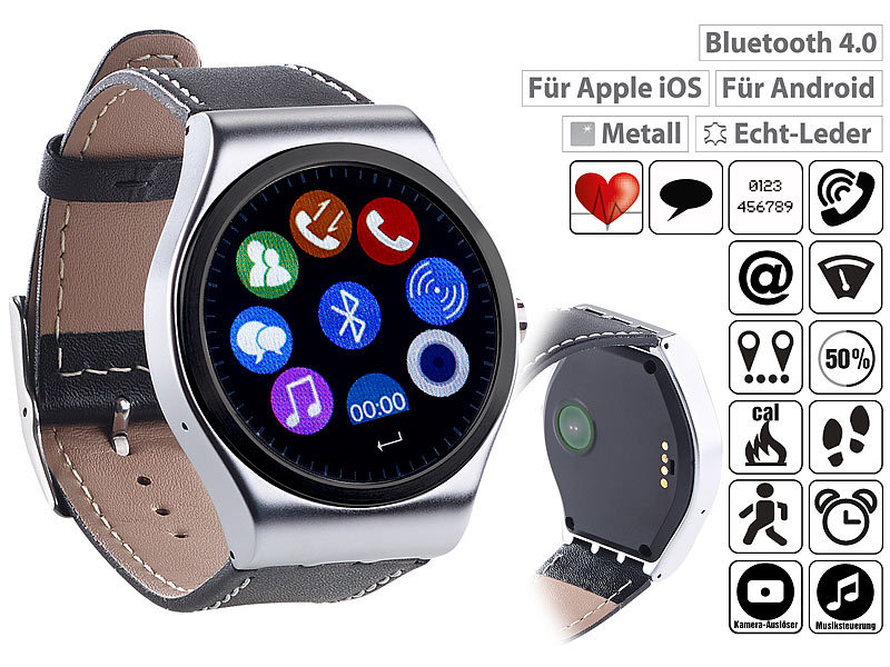 Smartwatch avec mains libres, bluetooth, notifications et cardiofré...