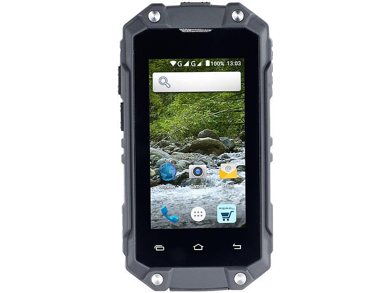 simvalley mobile outdoor handy mini outdoor smartphone. Black Bedroom Furniture Sets. Home Design Ideas