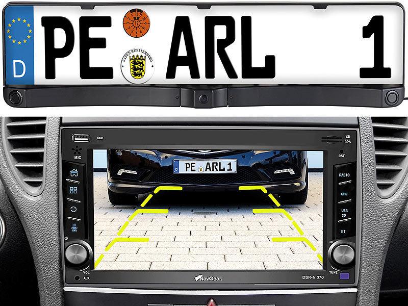 Lescars Kfz Kamera: Rückfahrkamera & Einparkhilfe mit Abstandswarner ...