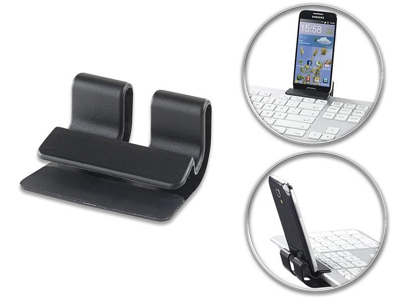 Pearl tastatur mit handyhalter universelle smartphone clip