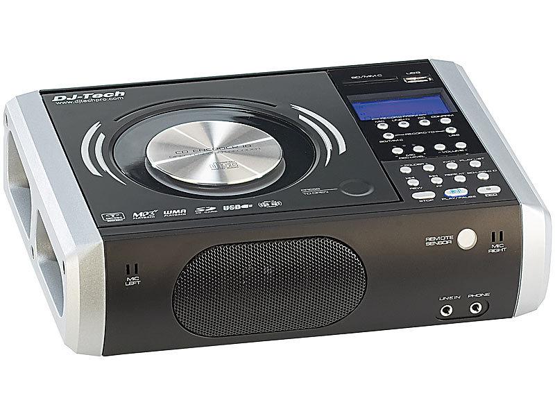 professioneller cd mp3 player mit digital recorder. Black Bedroom Furniture Sets. Home Design Ideas