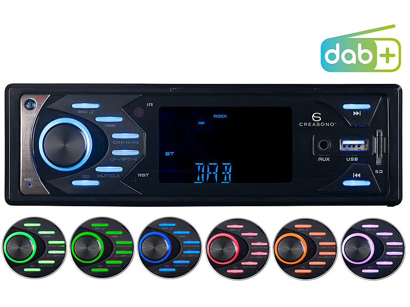 creasono digital autoradio mp3 autoradio mit dab. Black Bedroom Furniture Sets. Home Design Ideas
