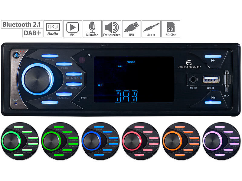MP3-Autoradio mit DAB+, Bluetooth & Freisprech-Funktion, 4x 45 Watt