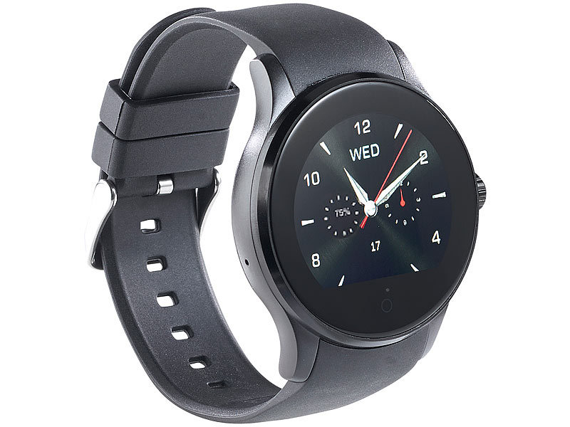 simvalley mobile telefon uhr handy uhr smartwatch f r ios android mit bluetooth. Black Bedroom Furniture Sets. Home Design Ideas