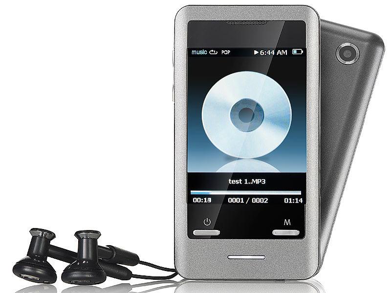 auvisio touchscreen mp3 video player mit kamera dmp 640. Black Bedroom Furniture Sets. Home Design Ideas