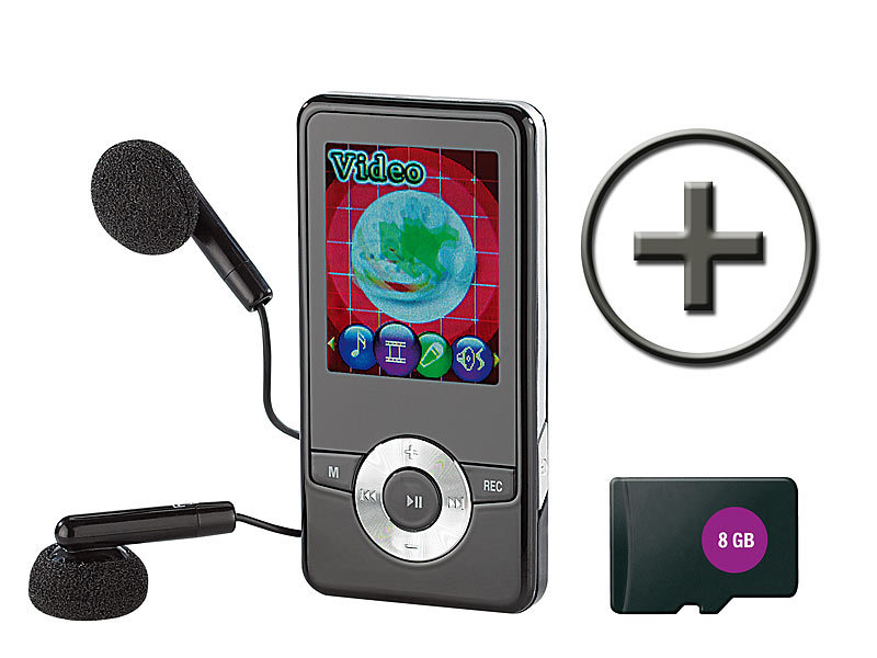 auvisio mp3 video player dmp 320 m mit ukw radio 8. Black Bedroom Furniture Sets. Home Design Ideas
