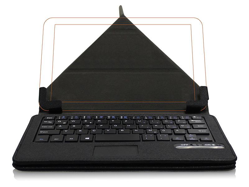 generalkeys iphone tastatur bt tastatur schutzcover mit touchpad f r 8 tablets quertz. Black Bedroom Furniture Sets. Home Design Ideas