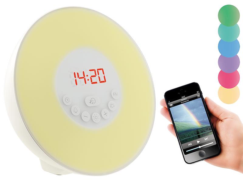 auvisio lichtwecker wake up led radiowecker mit bluetooth. Black Bedroom Furniture Sets. Home Design Ideas