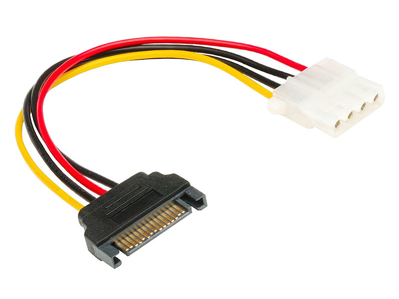 Internes Strom-Adapterkabel SATA Stecker auf 4-Pin Molex-Buchse