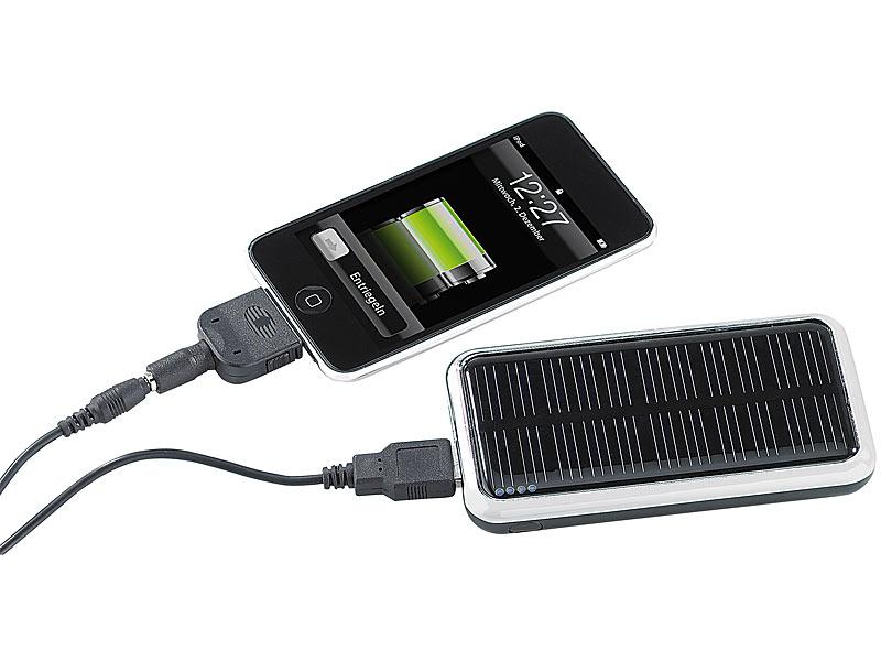 revolt solar powerbank f r iphone handy usb ger te. Black Bedroom Furniture Sets. Home Design Ideas