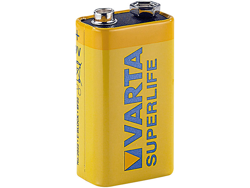 varta 2022 superlife batterie 9v block batterie. Black Bedroom Furniture Sets. Home Design Ideas
