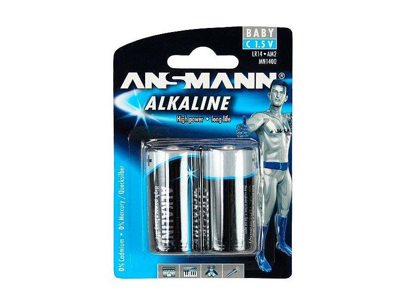 ansmann alkaline batterien typ c baby 2er pack. Black Bedroom Furniture Sets. Home Design Ideas