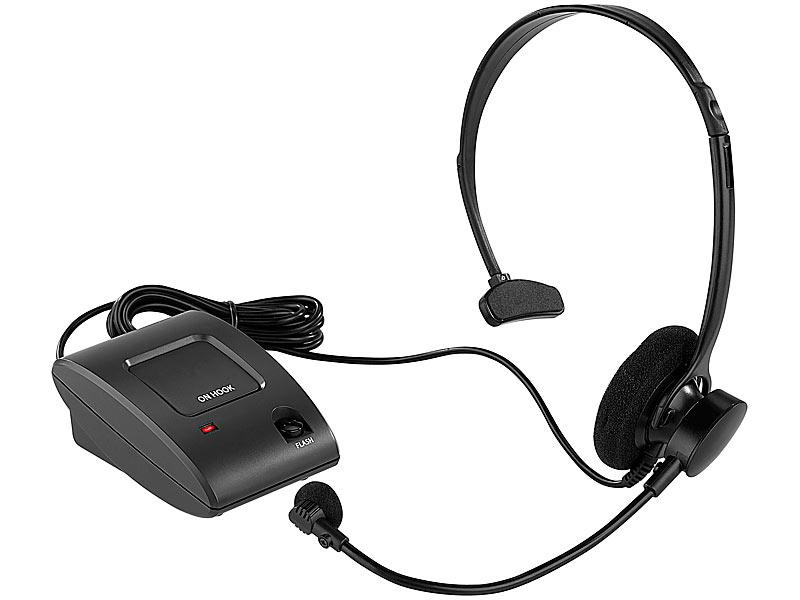 Callstel Profi Telefon Headset für Festnetz Telefone