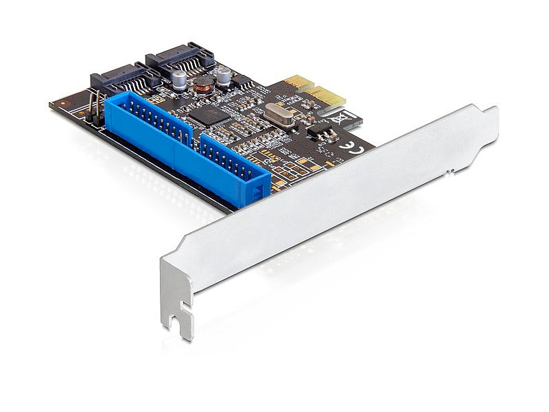 PCIe Controller Karte 2x SATA 6Gb/s (SATA III) & 1x IDE
