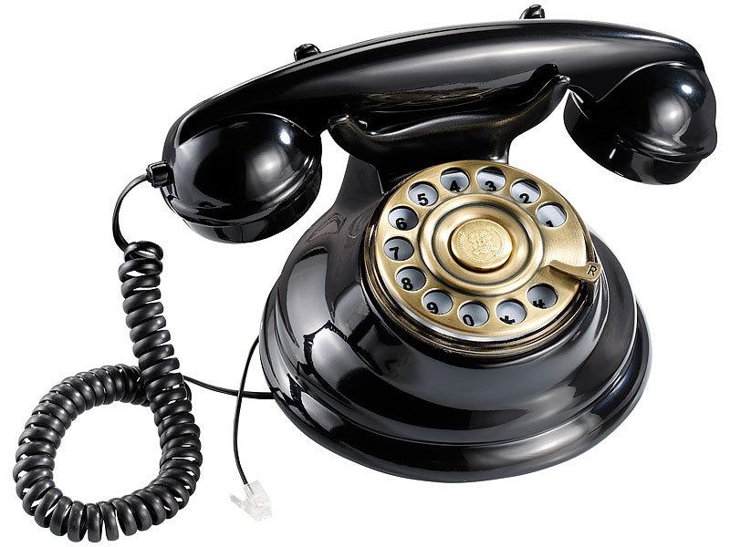 Callstel Telefon im Retro Style mit Metall Wählscheibe und