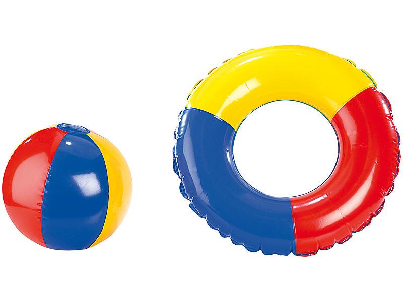 mini schwimmring kinder schwimmset mit schwimmring kindermatratze und strandball wasserball. Black Bedroom Furniture Sets. Home Design Ideas