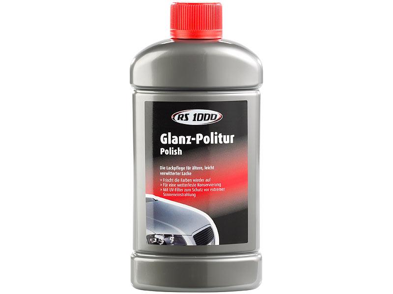 glanz politur rs1000 f r kfz lackpflege mit uv filter 500 ml. Black Bedroom Furniture Sets. Home Design Ideas