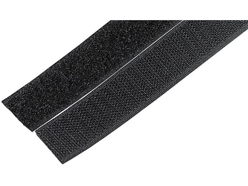 Klettband 100 mm dunkelblau je 1 m Klett und je 1 Meter Flauschband zum kleben