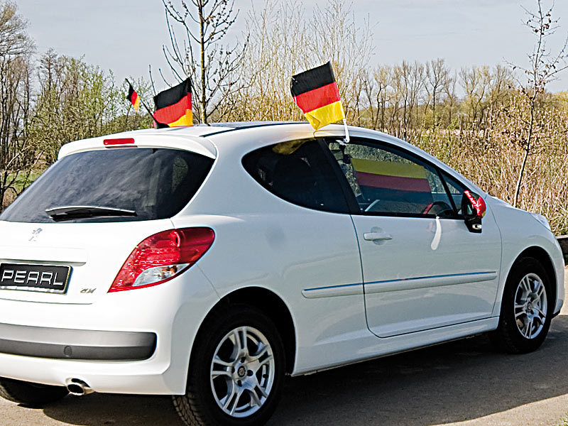 autoantenne kurzstabantenne mit deutschland fahne bei pearl. Black Bedroom Furniture Sets. Home Design Ideas