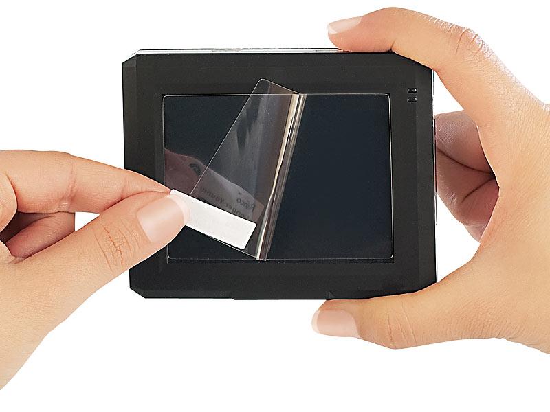 somikon displayfolie 4in1 universal schutzfolie bis 3 5. Black Bedroom Furniture Sets. Home Design Ideas