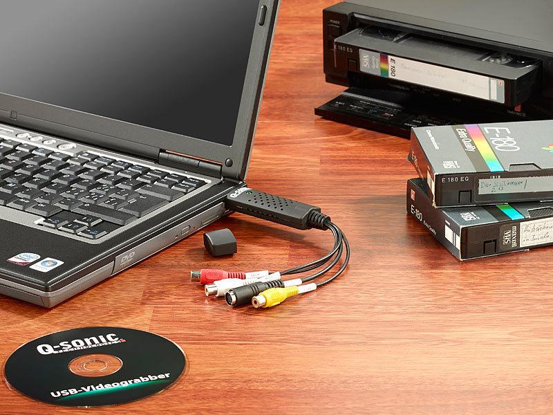 q sonic usb video grabber zum digitalisieren inkl software. Black Bedroom Furniture Sets. Home Design Ideas