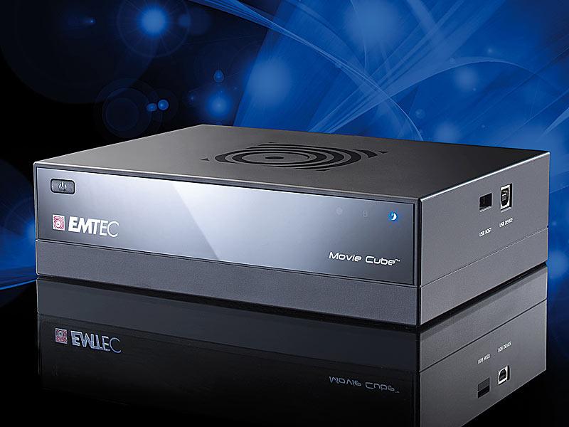 emtec 500gb festplatten mediaplayer movie cube q500 mit. Black Bedroom Furniture Sets. Home Design Ideas