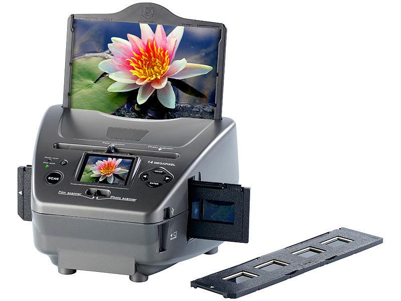 somikon 3in1 dia foto negativ scanner sd 1400 mit 14 mp sensor. Black Bedroom Furniture Sets. Home Design Ideas
