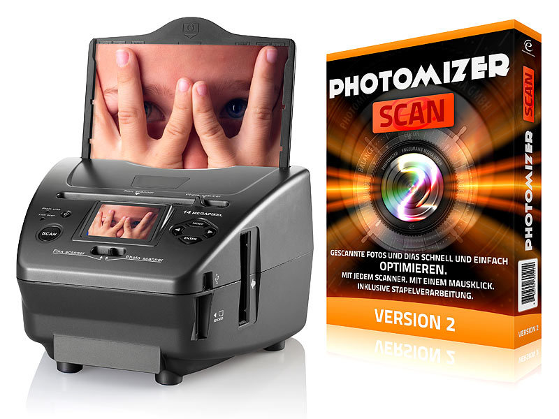 3in1-Dia-, Foto- & Negativ-Scanner SD-1400 mit 14-MP-Sensor