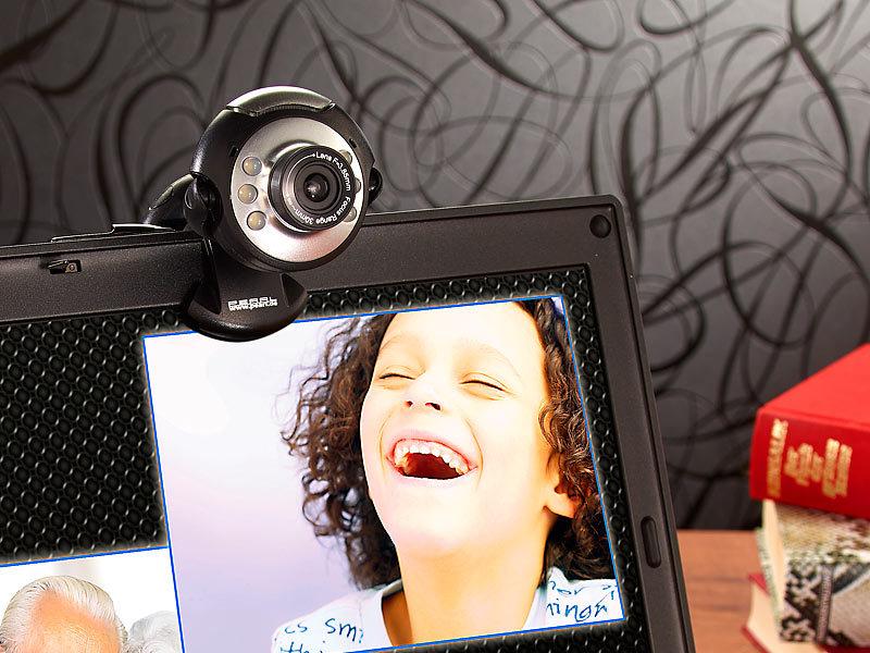 Somikon usb videokamera hochauflösende usb webcam mit leds hd