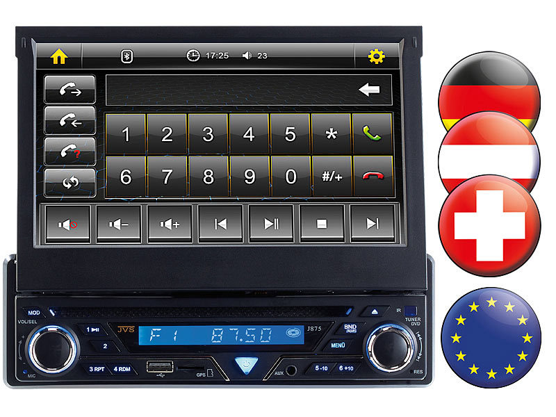 creasono 7 touchscreen dvd autoradio mit navigation europa. Black Bedroom Furniture Sets. Home Design Ideas