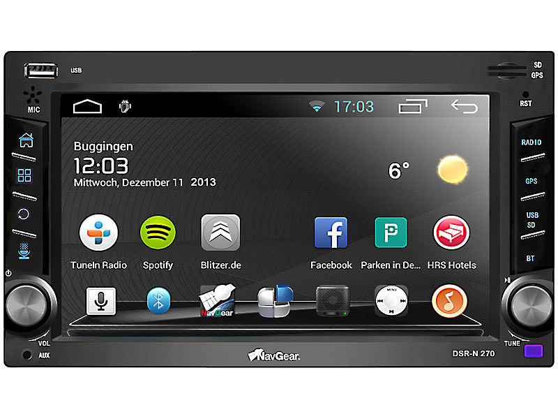 navgear 2 din android autoradio dsr n 270 mit gps wifi bt2. Black Bedroom Furniture Sets. Home Design Ideas