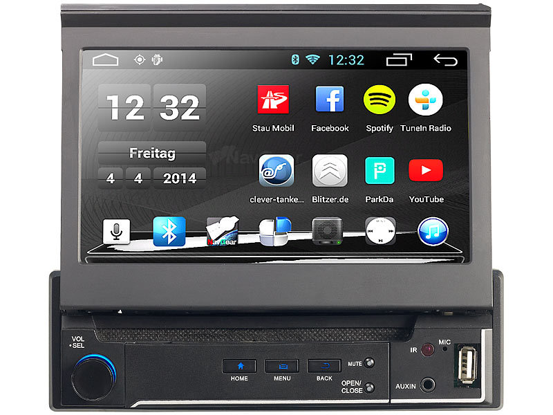 navgear 1 din android autoradio mit 7 navi dsr n 310. Black Bedroom Furniture Sets. Home Design Ideas