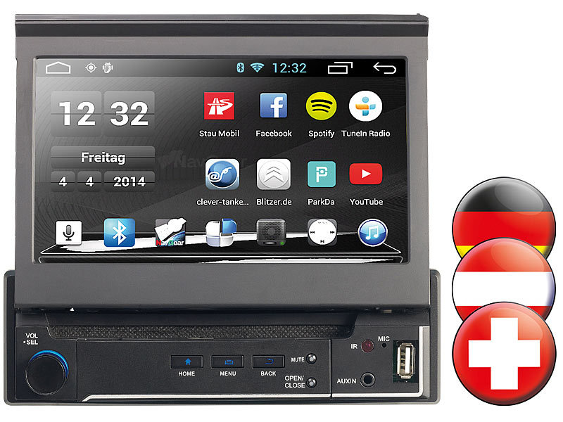 navgear 1 din android autoradio mit 7 navi dsr n 310 d a ch. Black Bedroom Furniture Sets. Home Design Ideas