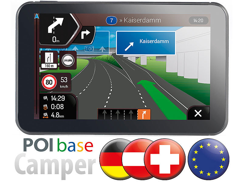 Système GPS N6 - version Camping car avec cartes Europe