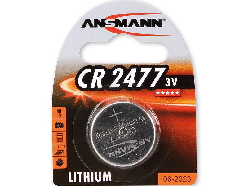 ansmann lithium knopfzelle cr 2477 3 v. Black Bedroom Furniture Sets. Home Design Ideas