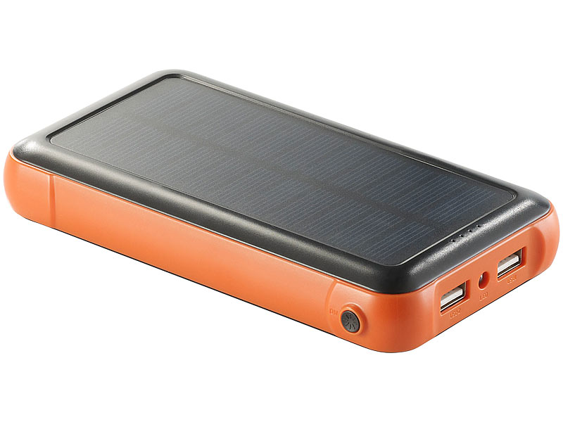 revolt solar powerbank pb 200 s mit mah ladestand. Black Bedroom Furniture Sets. Home Design Ideas